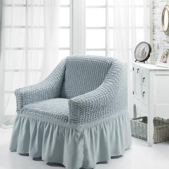 Чехол на кресло Bulsan BURUMCUK серый