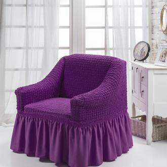 Чехол на кресло Bulsan BURUMCUK фиолетовый