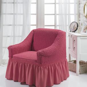 Чехол на кресло Bulsan BURUMCUK грязно-розовый