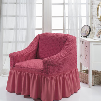 Чехол на кресло Bulsan BURUMCUK (грязно-розовый)