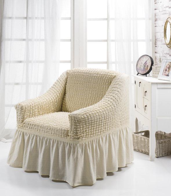 Чехол на кресло Bulsan BURUMCUK (натурал), фото, фотография