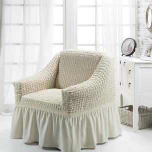 Чехол на кресло Bulsan BURUMCUK кремовый