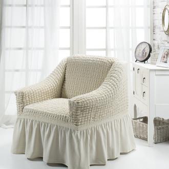 Чехол на кресло Bulsan BURUMCUK (кремовый)
