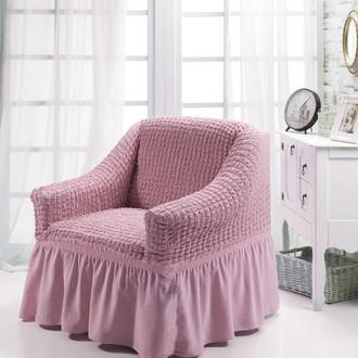Чехол на кресло Bulsan BURUMCUK светло-розовый
