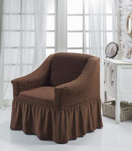 Чехол на кресло Bulsan BURUMCUK коричневый, фото, фотография