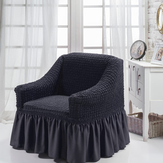 Чехол на кресло Bulsan BURUMCUK (тёмно-серый)