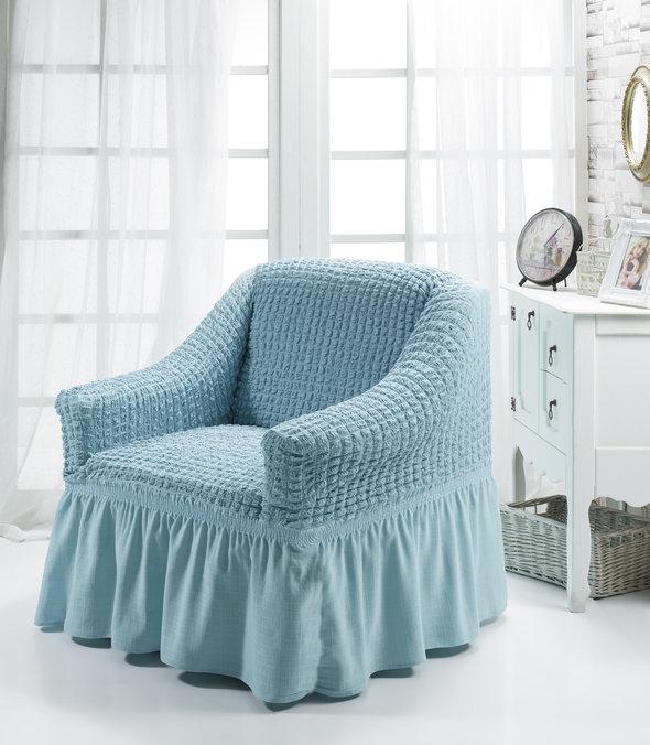 Чехол на кресло Bulsan BURUMCUK бирюзовый, фото, фотография