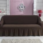 Чехол на диван Bulsan BURUMCUK коричневый трёхместный, фото, фотография