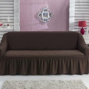 Чехол на диван Bulsan BURUMCUK коричневый трёхместный