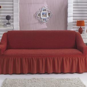 Чехол на диван Bulsan BURUMCUK кирпичный двухместный