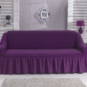 Чехол на диван Bulsan BURUMCUK фиолетовый трёхместный