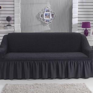 Чехол на диван Bulsan BURUMCUK тёмно-серый трёхместный