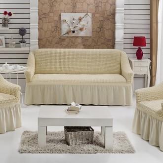 Набор чехлов на трёхместный диван и кресла (2 шт.) Bulsan BURUMCUK (натурал)