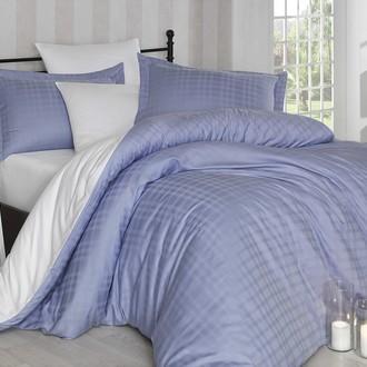 Комплект постельного белья Hobby EKOSE сатин-жаккард лиловый+белый