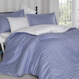 Комплект постельного белья Hobby Home Collection DAMASK сатин-жаккард (лиловый+белый)