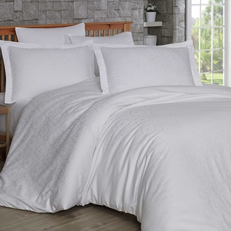 Комплект постельного белья Hobby Home Collection DAMASK сатин-жаккард (белый)