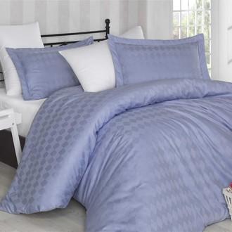 Комплект постельного белья Hobby BULUT сатин-жаккард лиловый+белый