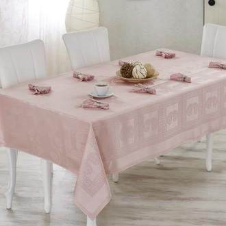 Скатерть с салфетками Verolli ROYAL (розовый)