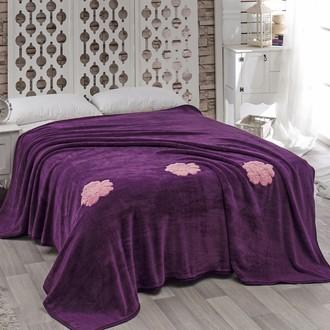 Покрывало Karna ROSE велсофт фиолетовый