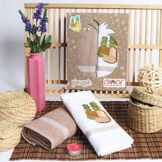 Набор кухонных полотенец Pinar FRUTTE махра+вафля V3