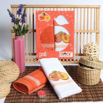 Набор кухонных полотенец Pinar FRUTTE махра+вафля V9