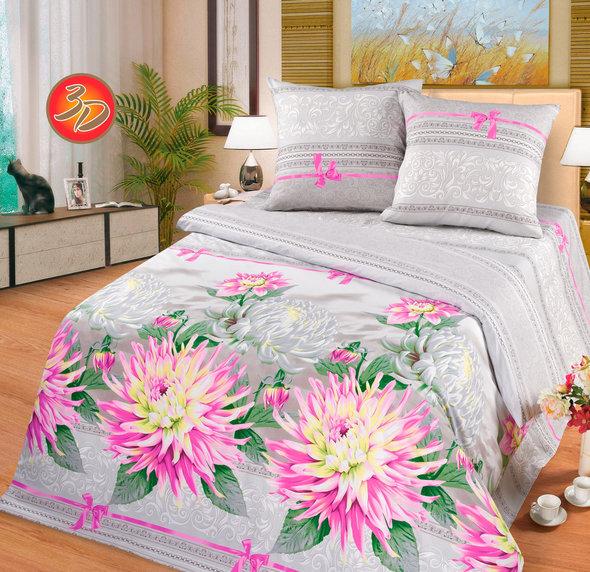 Комплект постельного белья Cleo PP-186 поплин 2-х спальный, фото, фотография