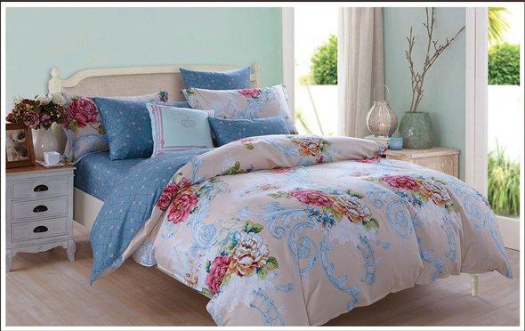 Комплект постельного белья Cleo SL-033 сатин 2-х спальный, фото, фотография
