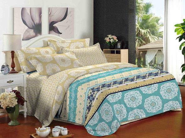 Комплект постельного белья Cleo SL-036 сатин 1,5 спальный, фото, фотография