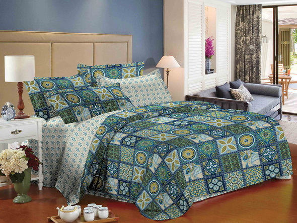 Комплект постельного белья Cleo SL-037 сатин евро, фото, фотография