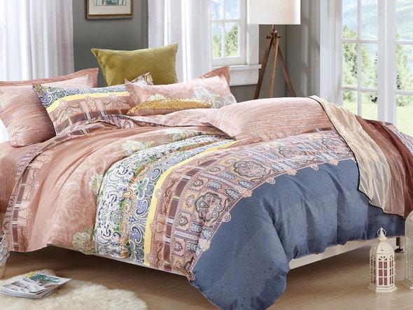 Комплект постельного белья Cleo SL-040 сатин 1,5 спальный, фото, фотография