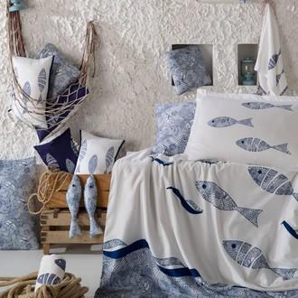 Постельное белье Hobby Home Collection BLUES хлопковый поплин голубой