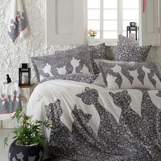 Комплект постельного белья Hobby JAZZ поплин чёрный