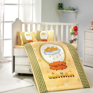 Набор в детскую кроватку Hobby Home Collection BAMBAM хлопковый поплин жёлтый