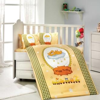 Набор в детскую кроватку для новорожденных Hobby BAMBAM поплин жёлтый
