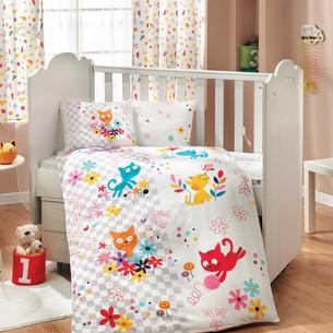 Набор в детскую кроватку для новорожденных Hobby MIRMIR поплин белый ясли