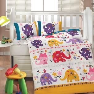 Набор в детскую кроватку для новорожденных Hobby OSCAR поплин белый ясли