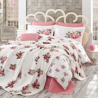 Комплект постельного белья с покрывалом Hobby PARIS SPRING поплин розовый