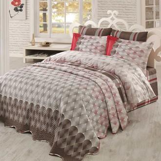Комплект постельного белья с покрывалом Hobby BELEN поплин коричневый