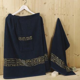 Набор для сауны махровый Karna RELAX синий