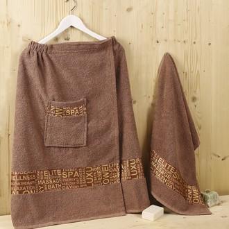 Набор для сауны махровый Karna RELAX коричневый