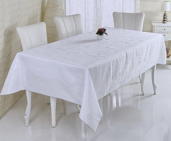 Скатерть Verolli SAKURA белый 160*220, фото, фотография