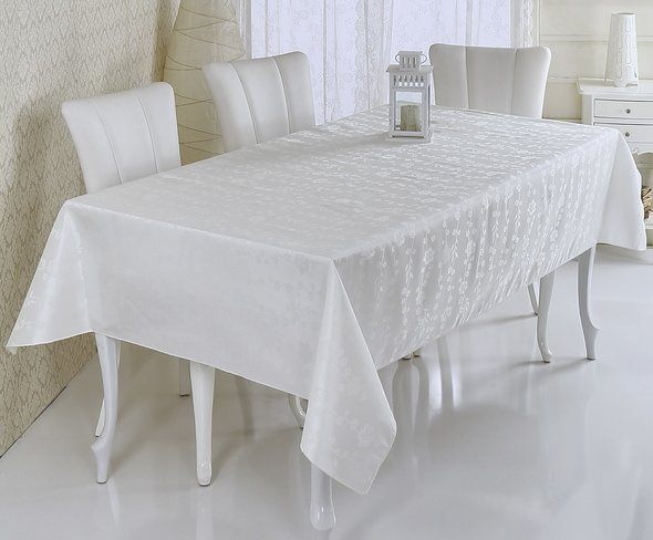Скатерть Verolli SAKURA кремовый 160*220, фото, фотография