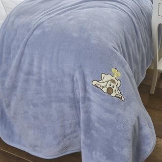 Покрывало-плед Karna KIDS SOFT велсофт голубой