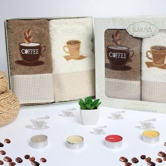 Набор полотенец Karna TEA SET коричневый