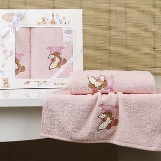 Набор полотенец детских в подарочной упаковка Karna BAMBINO-TEDDY махра розовый