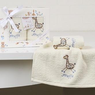 Набор полотенец детских в подарочной упаковка Karna BAMBINO махра голубой V2
