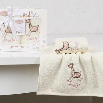Набор полотенец детских в подарочной упаковка Karna BAMBINO махра розовый V2