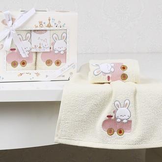 Набор полотенец детских в подарочной упаковка Karna BAMBINO махра розовый V5