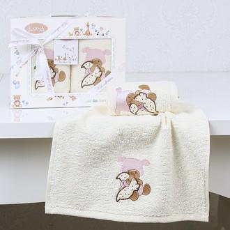 Набор полотенец детских в подарочной упаковка Karna BAMBINO махра розовый V1