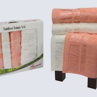 Набор полотенец Gonca LARA кремовый+абрикосовый